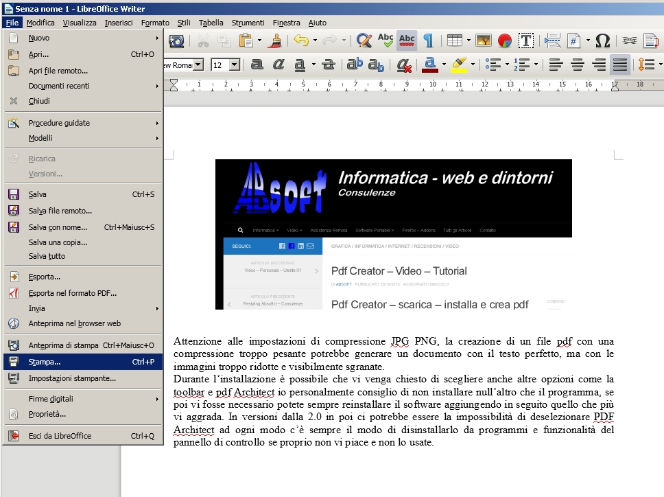 does libreoffice come with a pdf creator