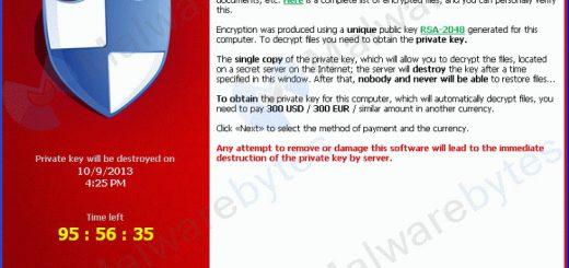Ramsonware Cryptolocker