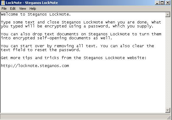 Locknote Criptare testi