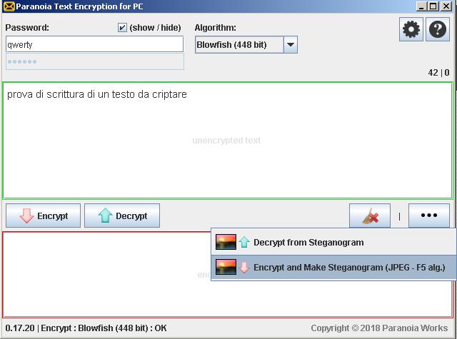 Paranoia Text Encript Criptare testi