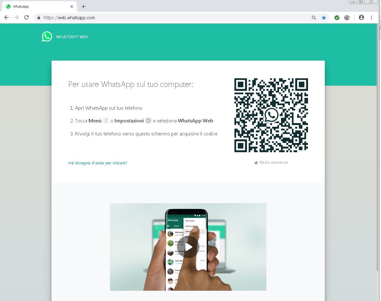 whatsapp web scaricare foto su pc