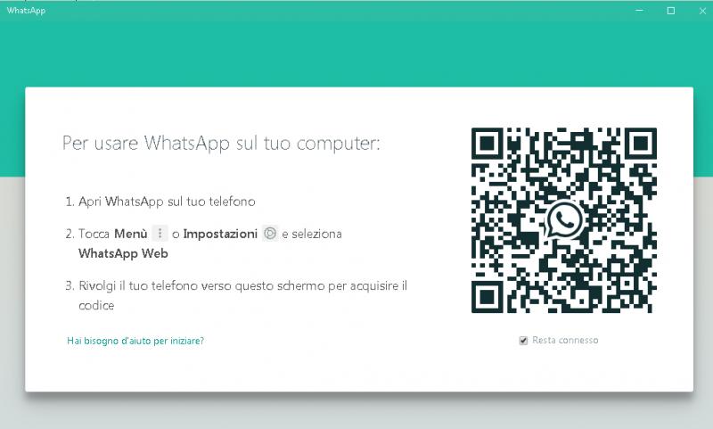 whatsapp su pc