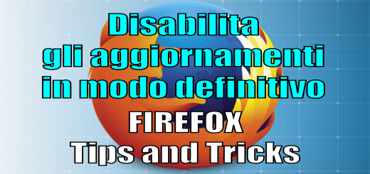 Disabilita aggiornamenti firefox