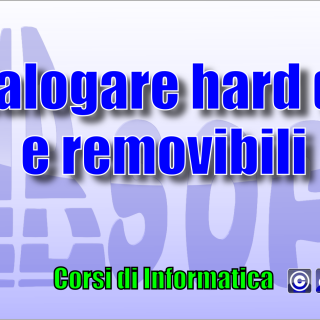 Catalogare hard disk e vari media